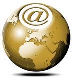 σφαιρικό ταχυδρομείο ε Στοκ εικόνες με δικαίωμα ελεύθερης χρήσης