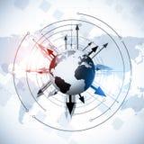 Σφαιρικό υπόβαθρο παγκόσμιων επιχειρήσεων Στοκ φωτογραφία με δικαίωμα ελεύθερης χρήσης
