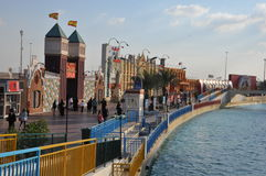 Σφαιρικό χωριό στο Ντουμπάι, Ε.Α.Ε. στοκ φωτογραφία