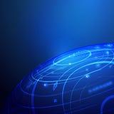 Σφαιρικό ψηφιακό υπόβαθρο τεχνολογίας Στοκ εικόνα με δικαίωμα ελεύθερης χρήσης