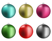 σφαιρών σφαιρών Χριστουγέννων εστίαση που αφήνεται ζωηρόχρωμη κόκκινη Στοκ φωτογραφία με δικαίωμα ελεύθερης χρήσης