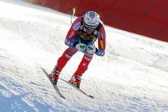 ΣΦΕΝΔΑΜΝΟΣ Ουίλι στο αλπικό Παγκόσμιο Κύπελλο σκι Audi FIS - RA των ατόμων προς τα κάτω Στοκ Εικόνες