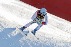 ΣΦΕΝΔΑΜΝΟΣ Ουίλι στο αλπικό Παγκόσμιο Κύπελλο σκι Audi FIS - RA των ατόμων προς τα κάτω Στοκ Εικόνα
