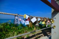 Σφεντόνα κλειδαριών καρδιών Στοκ Εικόνα