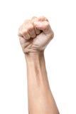 Σφιγγμένη αρσενικό πυγμή Στοκ εικόνες με δικαίωμα ελεύθερης χρήσης