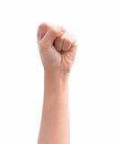 Σφιγγμένη θηλυκό πυγμή Στοκ φωτογραφίες με δικαίωμα ελεύθερης χρήσης