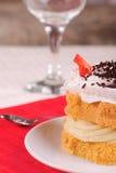 σφουγγάρι κέικ Στοκ Φωτογραφία