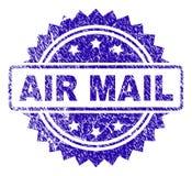Σφραγίδα γραμματοσήμων ΤΑΧΥΔΡΟΜΕΊΟΥ AIR Grunge απεικόνιση αποθεμάτων