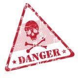σφραγίδα κινδύνου grunge απεικόνιση αποθεμάτων