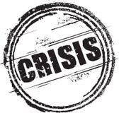 Σφραγίδα με την κρίση κειμένων Στοκ φωτογραφία με δικαίωμα ελεύθερης χρήσης