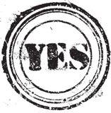 Σφραγίδα με το κείμενο ναι Στοκ εικόνα με δικαίωμα ελεύθερης χρήσης