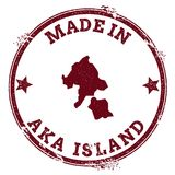 Σφραγίδα νησιών Aka Διανυσματική απεικόνιση