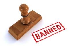 Σφραγίδα που απαγορεύεται Στοκ φωτογραφία με δικαίωμα ελεύθερης χρήσης