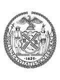 Σφραγίδα της ΑΜΕΡΙΚΑΝΙΚΗΣ πόλης της Νέας Υόρκης, Νέα Υόρκη ελεύθερη απεικόνιση δικαιώματος