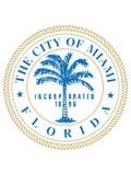 Σφραγίδα της ΑΜΕΡΙΚΑΝΙΚΗΣ πόλης του Μαϊάμι, Φλώριδα ελεύθερη απεικόνιση δικαιώματος