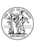 Σφραγίδα της ΑΜΕΡΙΚΑΝΙΚΗΣ πόλης του Ντιτρόιτ, Μίτσιγκαν απεικόνιση αποθεμάτων