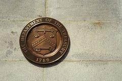 Σφραγίδα του διαμερίσματος Ηνωμένου Υπουργείου Οικονομικών στοκ φωτογραφία