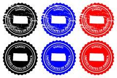 Σφραγίδα του Κάνσας Στοκ εικόνα με δικαίωμα ελεύθερης χρήσης
