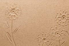 Σφραγίδα των λουλουδιών τομέων στην άμμο ανασκόπησης τα μαύρα γίνοντα εικόνα χρήματα σπιτιών ιδιοκτητών σπιτιού δαπανών έννοιας ε Στοκ εικόνες με δικαίωμα ελεύθερης χρήσης