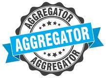 σφραγίδα aggregator γραμματόσημο Διανυσματική απεικόνιση