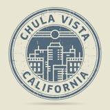 Σφραγίδα Grunge ή ετικέτα με Vista Chula κειμένων, Καλιφόρνια Στοκ Εικόνες