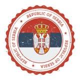 Σφραγίδα Grunge με τη σημαία της Σερβίας απεικόνιση αποθεμάτων