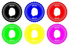 Σφραγίδα Nevis ελεύθερη απεικόνιση δικαιώματος