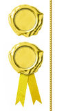Σφραγίδες που τίθενται χρυσές Στοκ εικόνα με δικαίωμα ελεύθερης χρήσης