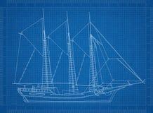 Σφραγίζοντας σχεδιάγραμμα σκαφών ελεύθερη απεικόνιση δικαιώματος