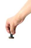 Σφραγίδα γραμματοσήμων τυπωμένων υλών Τύπου σφράγισης χεριών Στοκ εικόνες με δικαίωμα ελεύθερης χρήσης