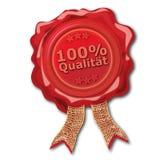 Σφραγίδα κεριών 100 τοις εκατό ποιοτικά Στοκ Εικόνες