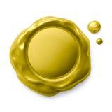 Σφραγίδα που απομονώνεται χρυσή στο λευκό Στοκ φωτογραφία με δικαίωμα ελεύθερης χρήσης