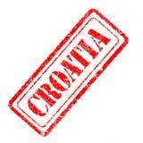 Σφραγίδα της Κροατίας Στοκ εικόνα με δικαίωμα ελεύθερης χρήσης