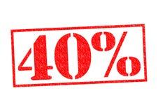 Σφραγίδα 40% Στοκ εικόνες με δικαίωμα ελεύθερης χρήσης