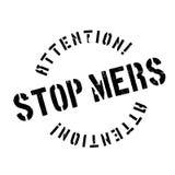 Σφραγίδα Mers στάσεων Στοκ εικόνες με δικαίωμα ελεύθερης χρήσης