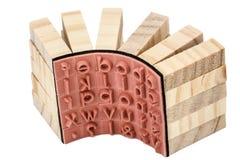 Σφραγίδες αγγλικός ο αλφαβητικός, απομονωμένος στο άσπρο υπόβαθρο στοκ φωτογραφία με δικαίωμα ελεύθερης χρήσης
