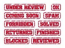 Σφραγίδες Στοκ εικόνα με δικαίωμα ελεύθερης χρήσης
