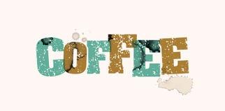 Σφραγισμένη απεικόνιση τέχνης του Word καφέ έννοια Στοκ εικόνες με δικαίωμα ελεύθερης χρήσης