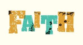 Σφραγισμένη απεικόνιση τέχνης του Word πίστης έννοια απεικόνιση αποθεμάτων