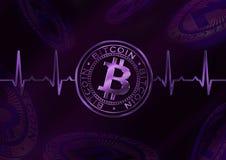 Σφυγμός Bitcoin Cryptocurrency Στοκ φωτογραφία με δικαίωμα ελεύθερης χρήσης