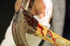 Σφυρί με το αίμα στοκ εικόνες με δικαίωμα ελεύθερης χρήσης