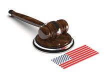 Σφυρί της δικαιοσύνης ΗΠΑ Στοκ Εικόνες