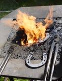 Σφυρηλάτηση ενός πετάλου. Στοκ φωτογραφίες με δικαίωμα ελεύθερης χρήσης