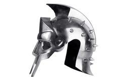 σφυρηλατημένος λεγεωνάριος Ρωμαίος σιδήρου κρανών Στοκ Εικόνα