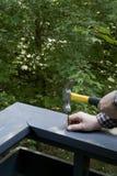 σφυρηλατώντας καρφί Στοκ εικόνα με δικαίωμα ελεύθερης χρήσης