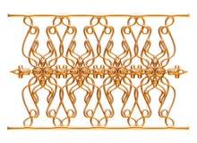 Σφυρηλατημένη διακοσμητική διακόσμηση πυλών που απομονώνεται στο άσπρο υπόβαθρο Στοκ φωτογραφία με δικαίωμα ελεύθερης χρήσης