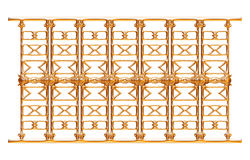Σφυρηλατημένη διακοσμητική διακόσμηση πυλών που απομονώνεται στο άσπρο υπόβαθρο Στοκ Φωτογραφίες
