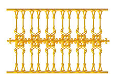 Σφυρηλατημένη διακοσμητική διακόσμηση πυλών που απομονώνεται στο άσπρο υπόβαθρο Στοκ εικόνα με δικαίωμα ελεύθερης χρήσης