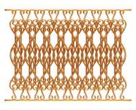 Σφυρηλατημένη διακοσμητική διακόσμηση πυλών που απομονώνεται στο άσπρο υπόβαθρο Στοκ Εικόνες