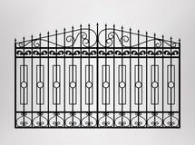 σφυρηλατημένη πύλη Στοκ Εικόνες